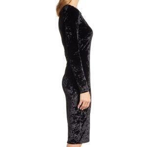 Michael Kors Dresses - NWT Michael Kors Long Sleeve Black Velvet Dress